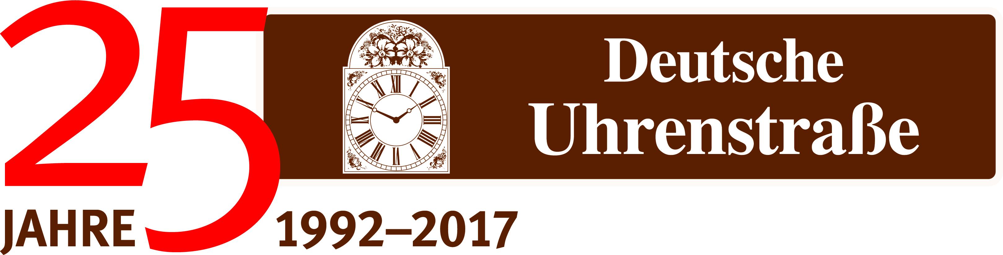 25 Jahre Deutsche Uhrenstraße Logo