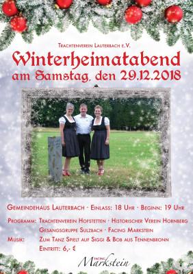 Plakat Heimatabend 2018