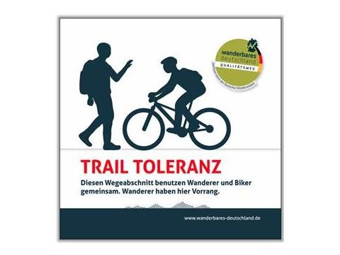 Trail Toleranz Schild